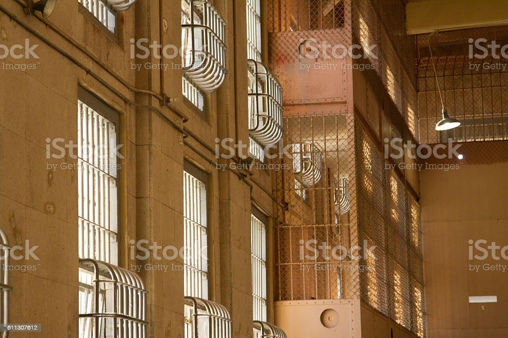 Alcatraz at Sunset stock photo