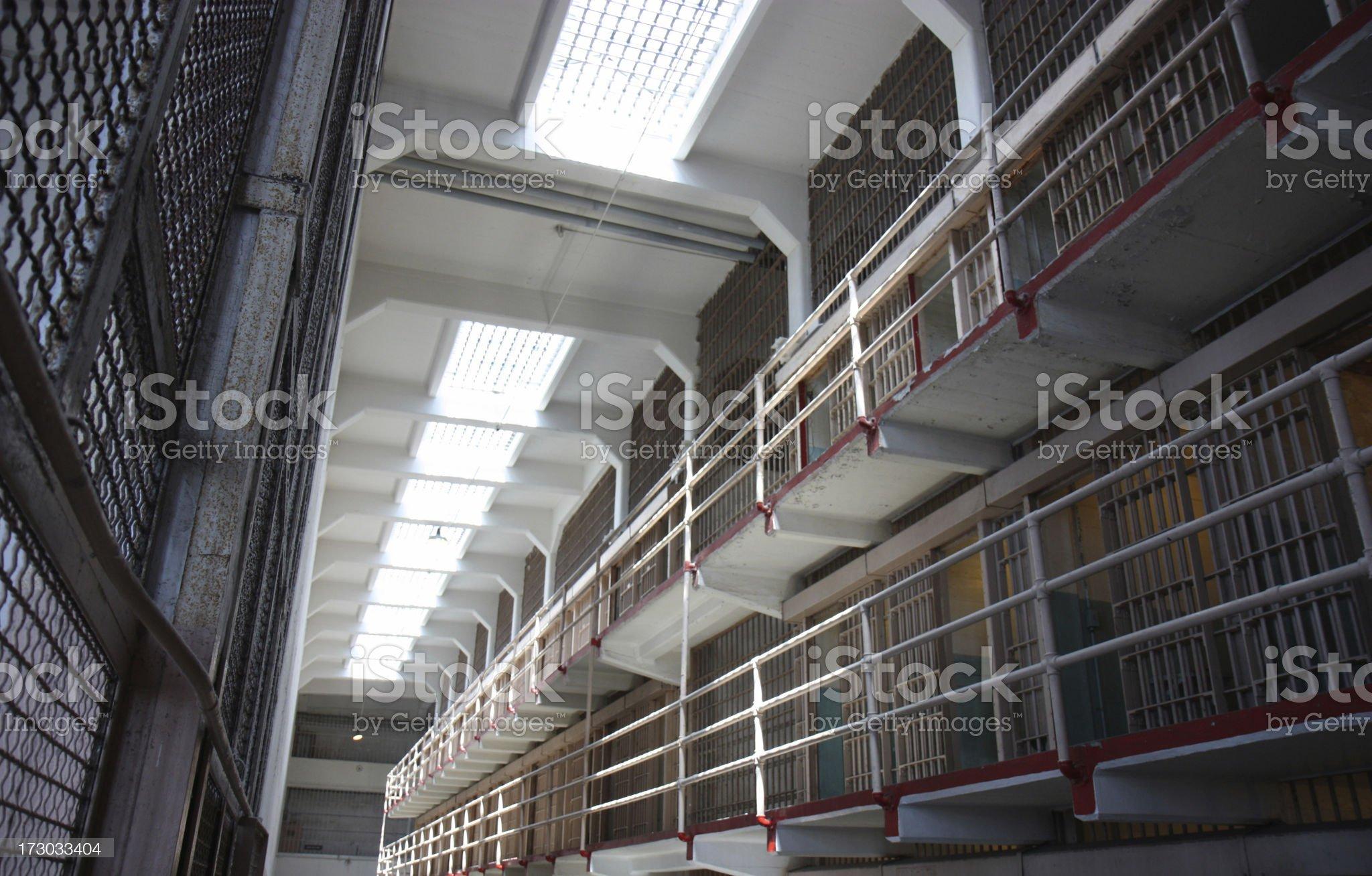 Alcatraz cells royalty-free stock photo