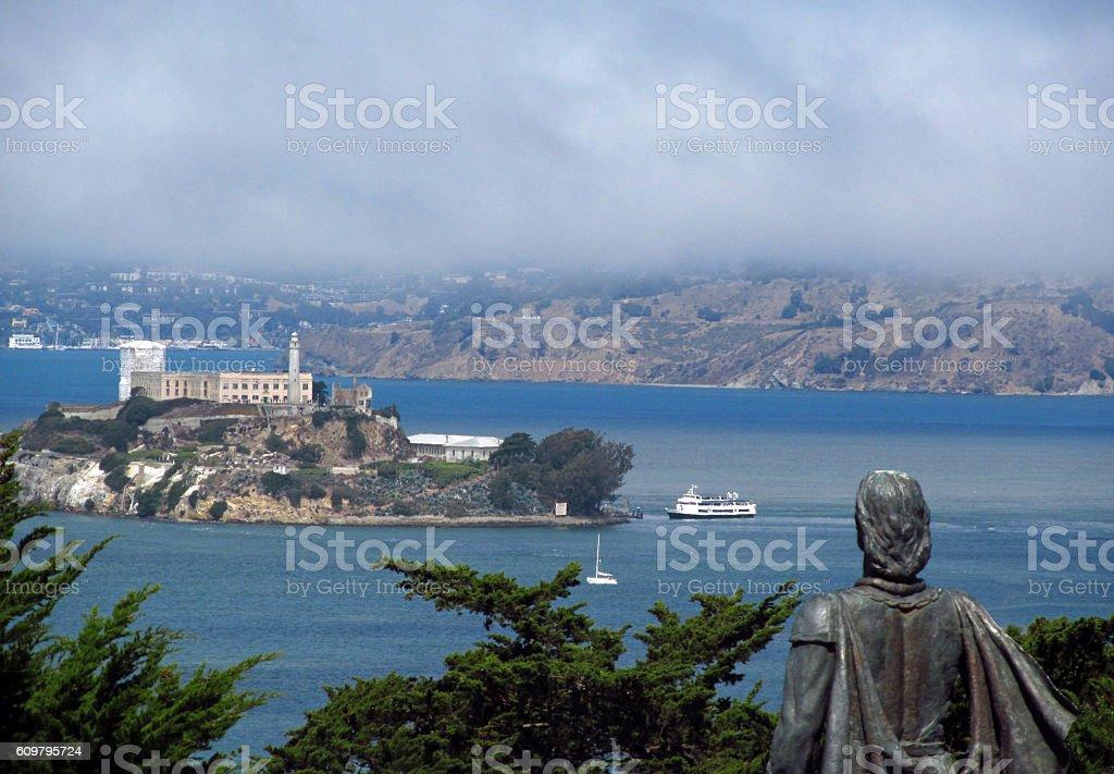 Alcatraz From Telegraph Hill stock photo