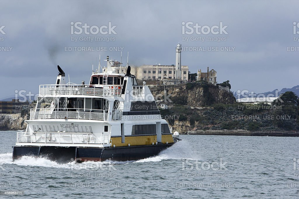 Alcatraz in San Francisco, California royalty-free stock photo