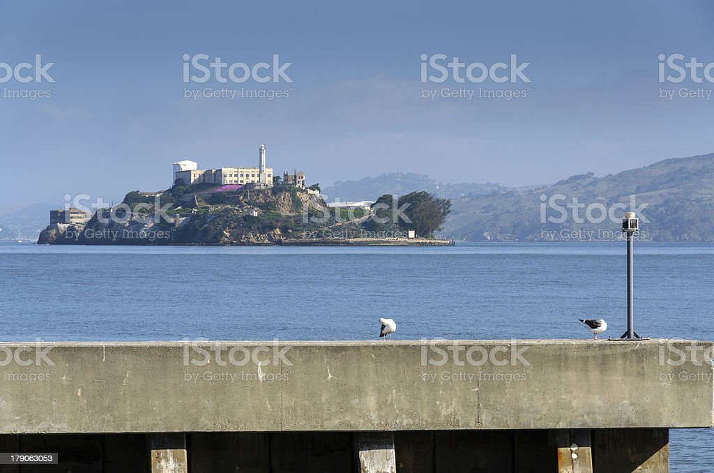 Alcatraz in San Francisco stock photo