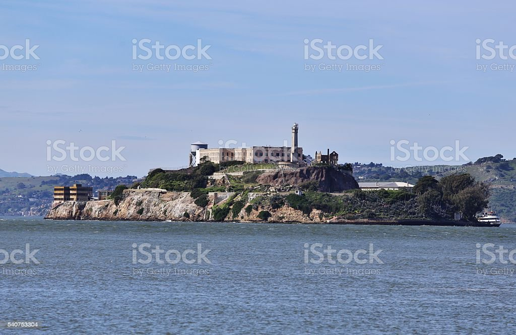 Alcatraz Island In San Francisco Bay, California stock photo
