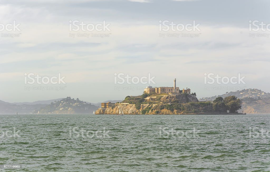 Alcatraz Island in San Francisco, USA. stock photo