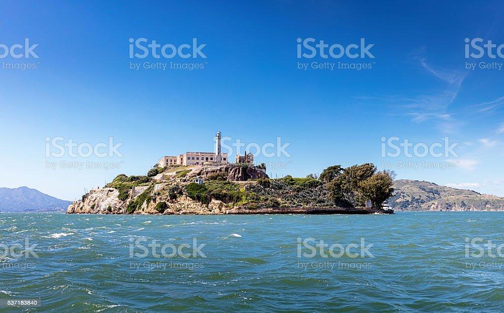 Alcatraz Island Penitentiary San Francisco Bay California stock photo