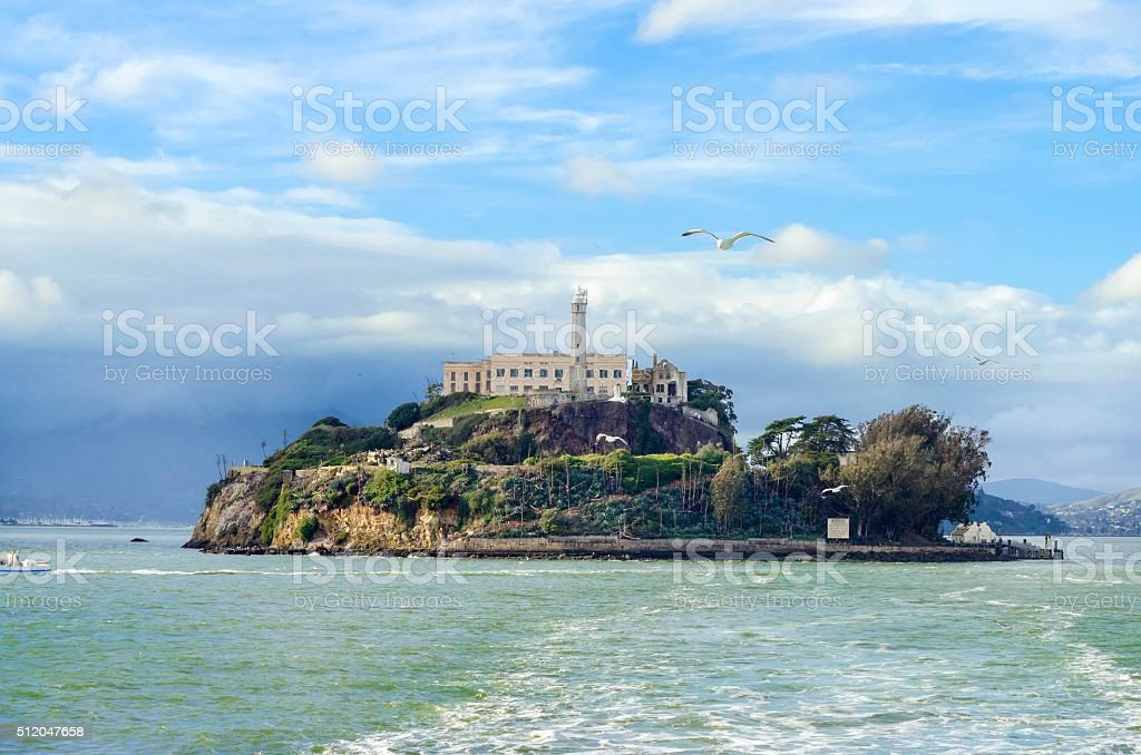 Alcatraz island, San Francisco, California stock photo