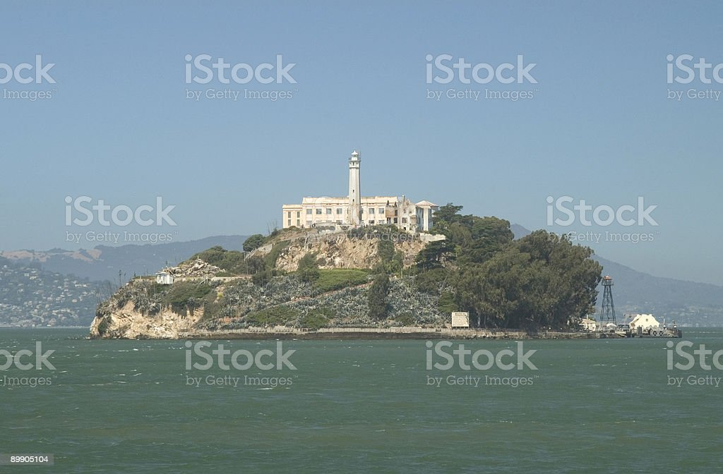 Alcatraz Island viewed from the southeast stock photo