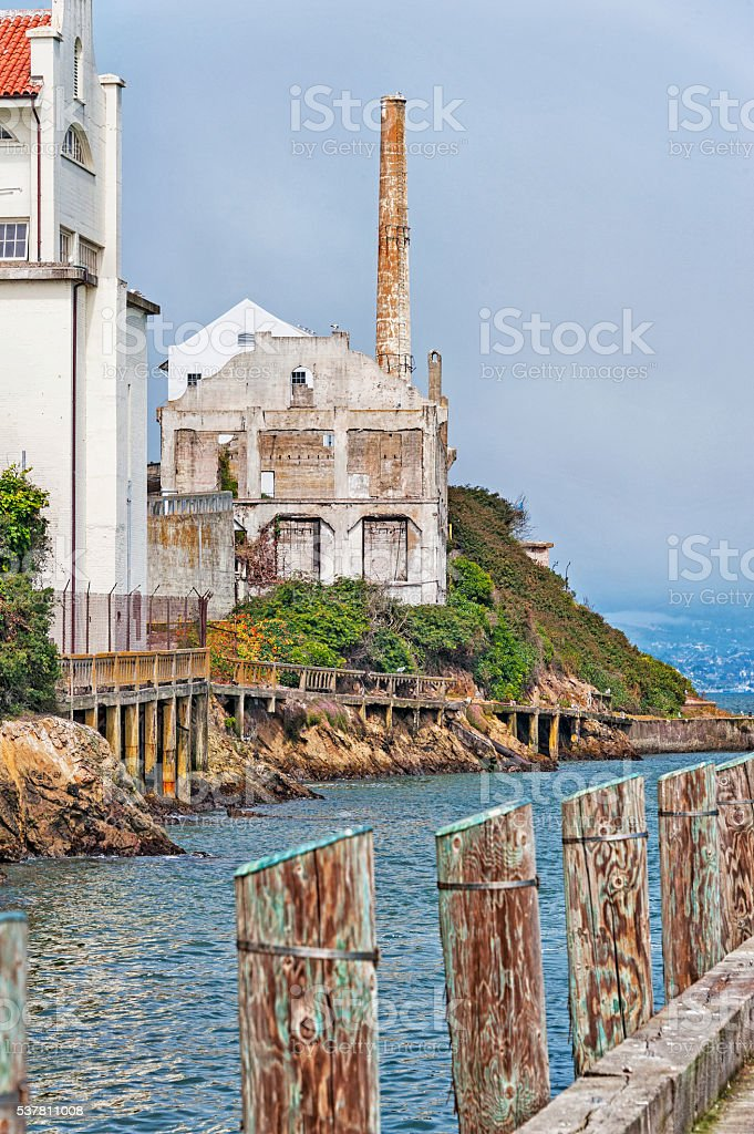 Alcatraz National Park Architectural Features stock photo