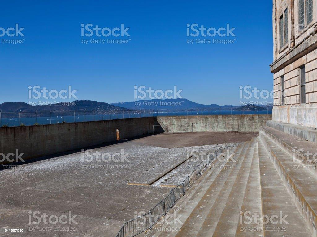 Alcatraz Prison Excercise Yard stock photo