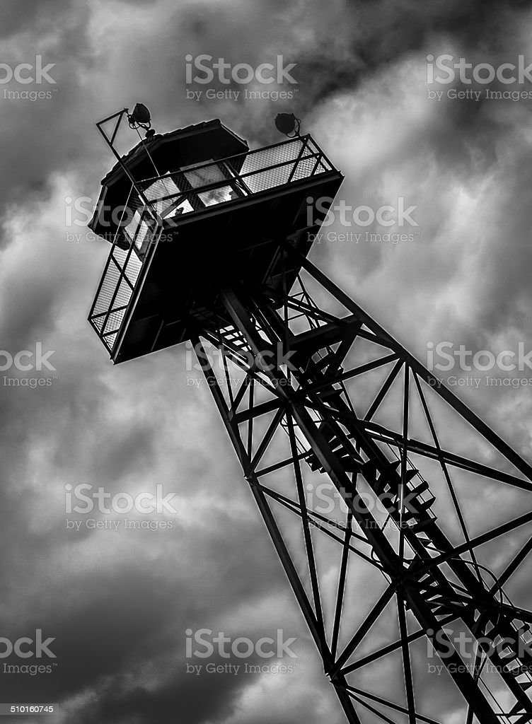 Alcatraz Prison - Sentry Guard Watch Tower stock photo