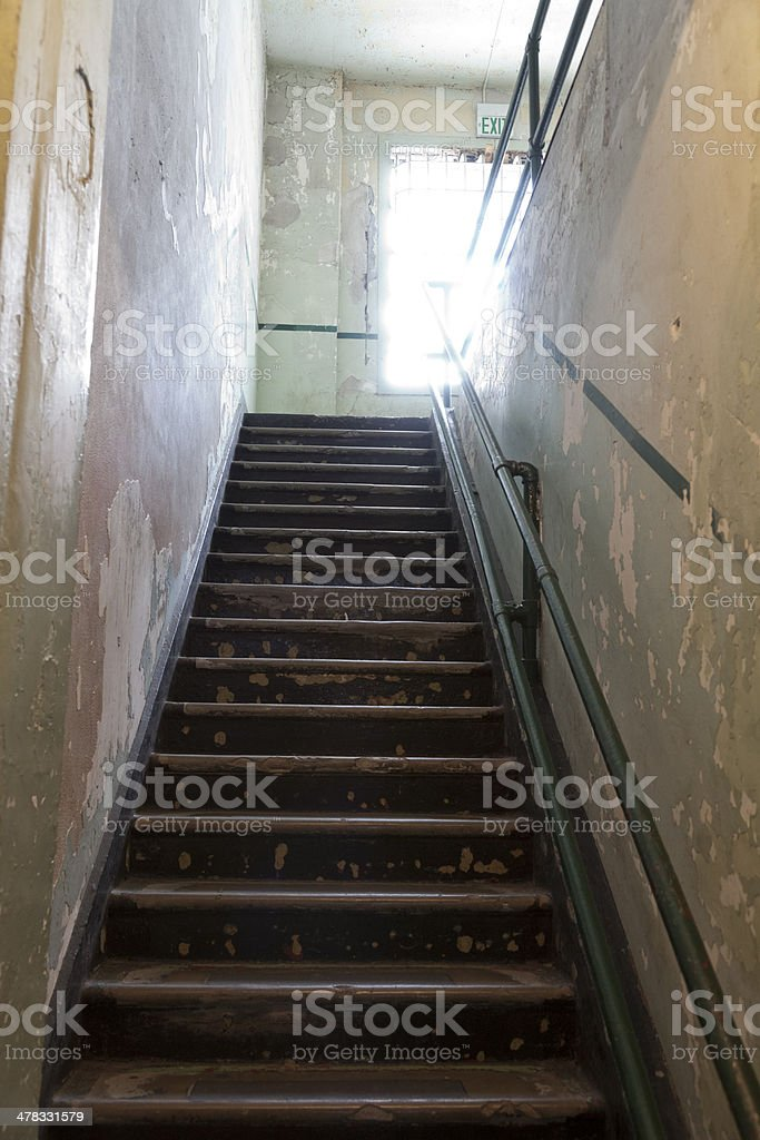 Alcatraz Steps royalty-free stock photo