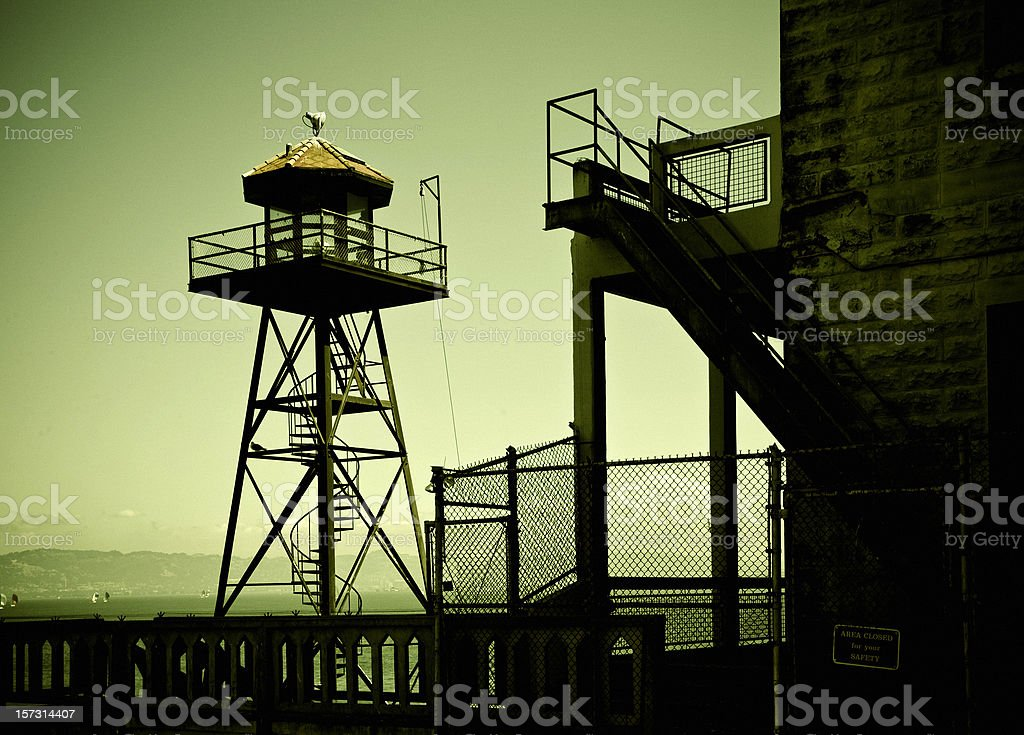 alcatraz tower stock photo