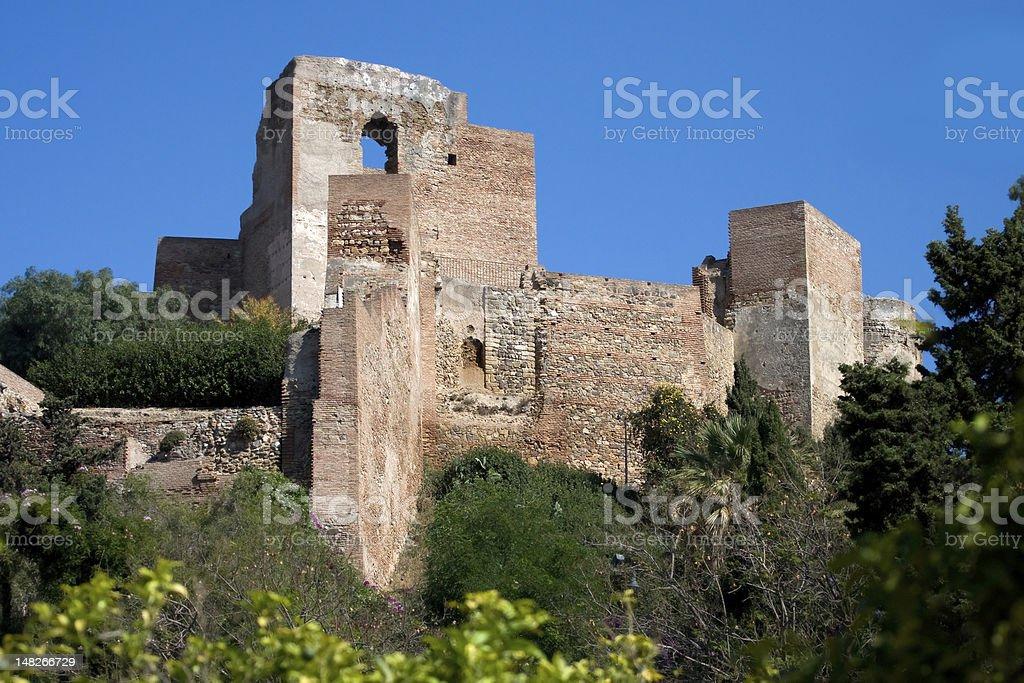 Alcazaba Castle in Malaga royalty-free stock photo