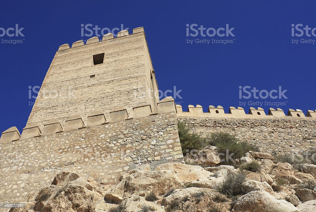 Alcazaba of Almeria stock photo