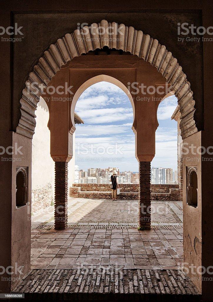 Alcazaba view stock photo