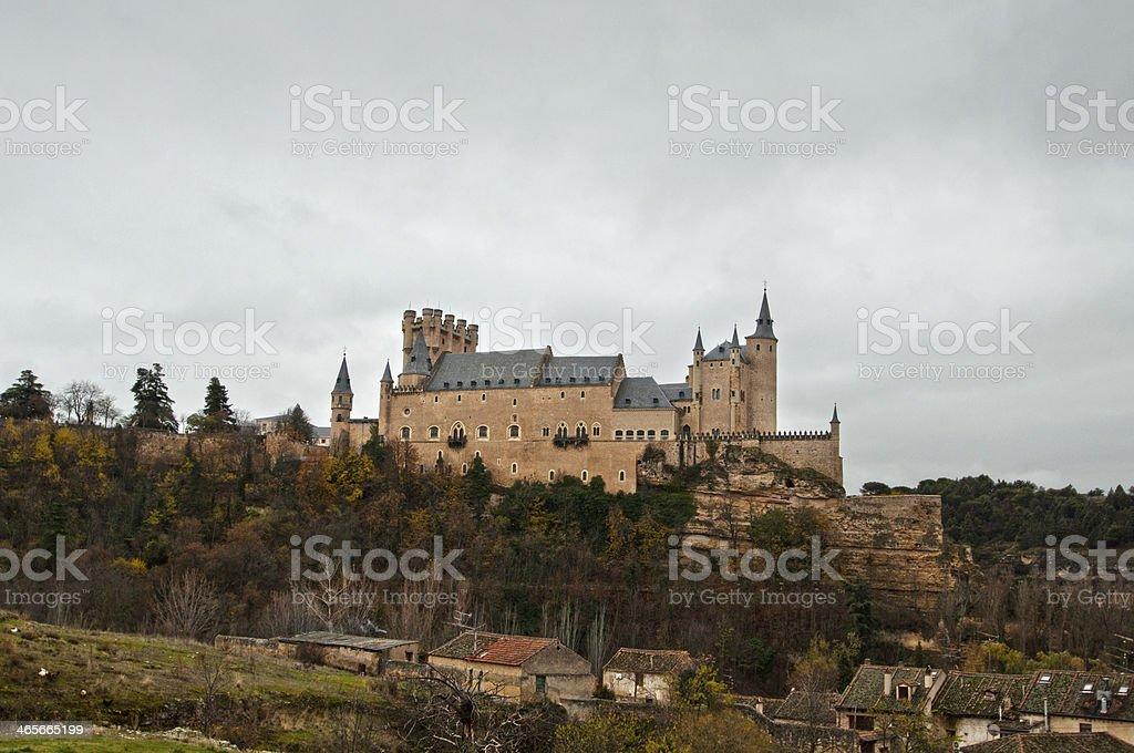 Alcazar called castle in Segovia, Spain royalty-free stock photo