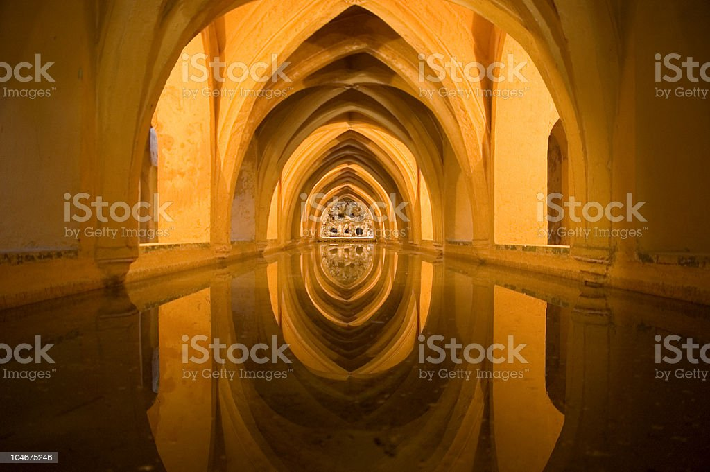 Alcazar castle, Seville stock photo