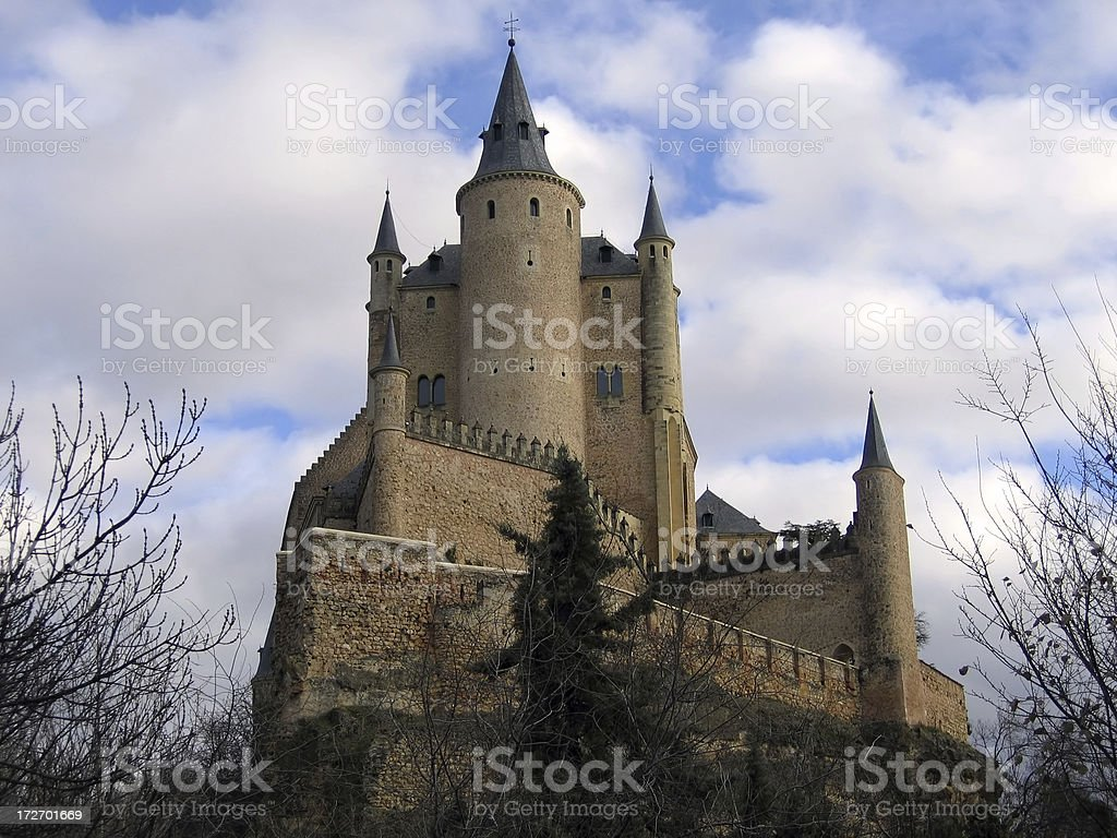 Alcazar de Segovia stock photo