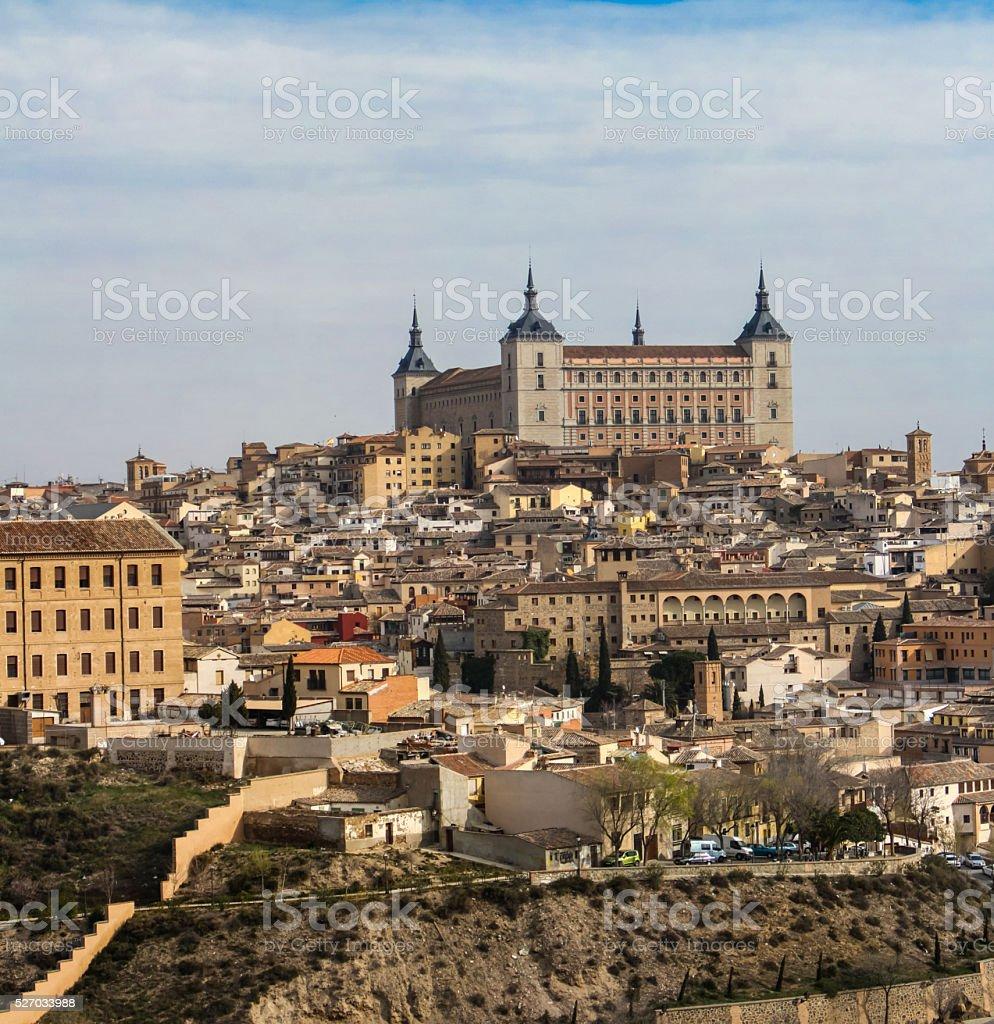 Alcazar fortress in Toledo stock photo