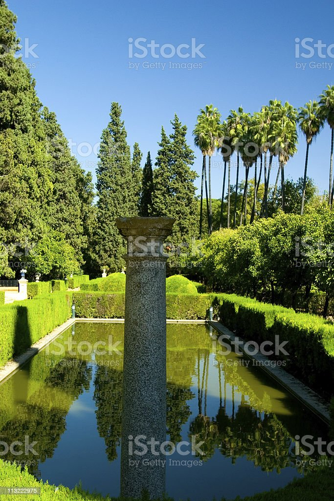 Alcazar Garden 2 royalty-free stock photo