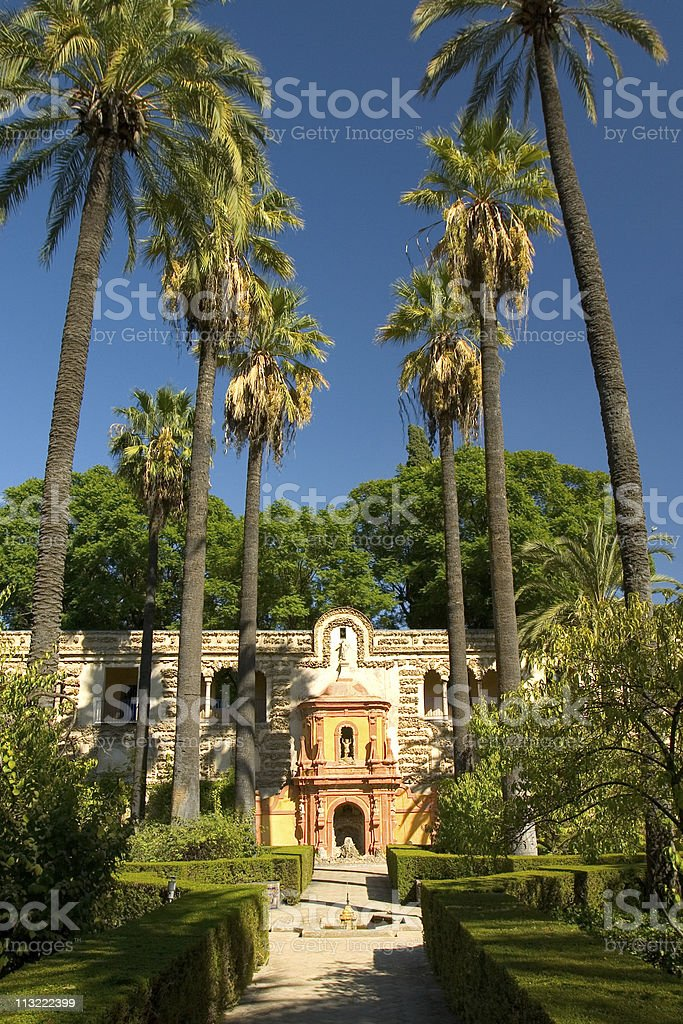 Alcazar Garden stock photo