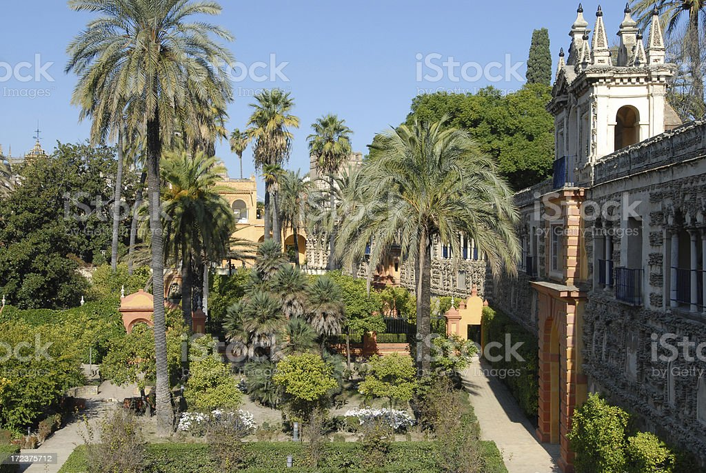 Alcazar Gardens, Seville royalty-free stock photo
