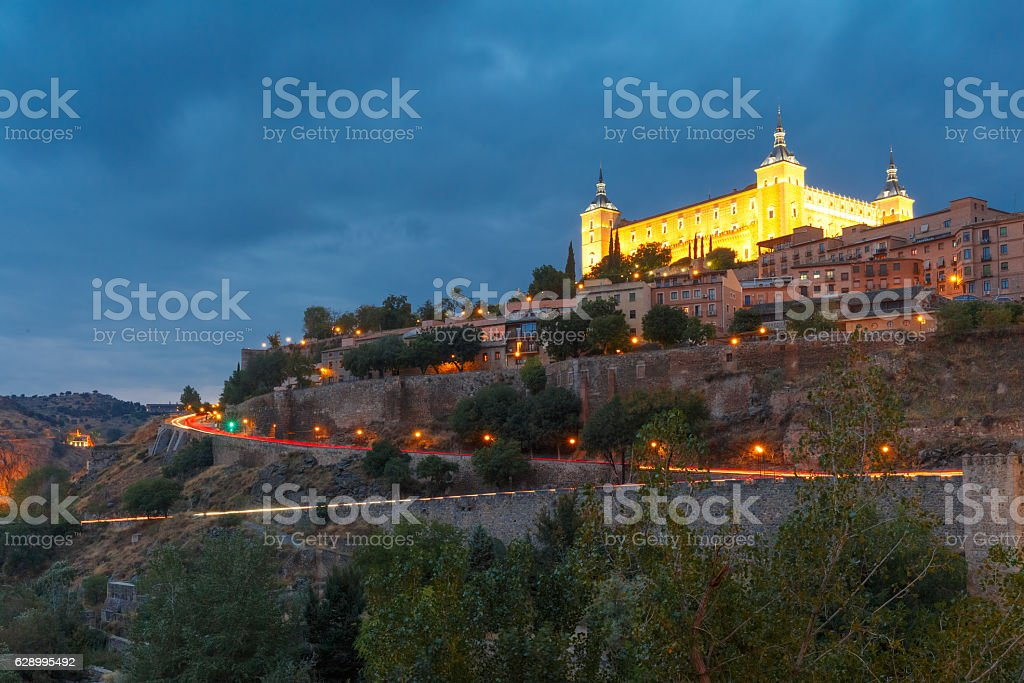 Alcazar in Toledo, Castilla La Mancha, Spain stock photo
