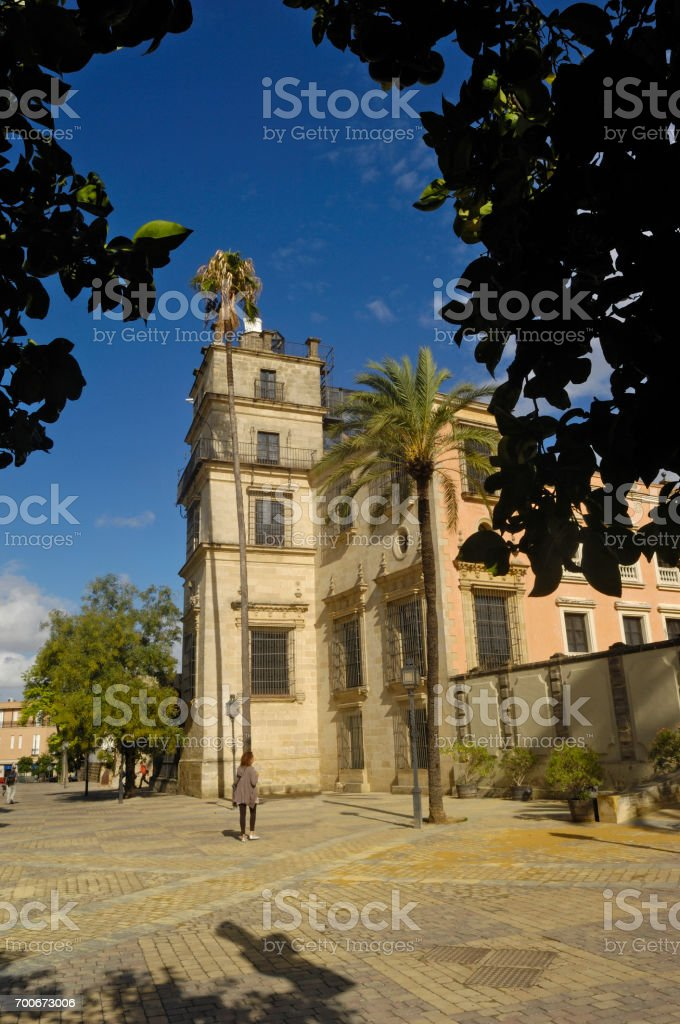 Alcazar Jerez de la Frontera,Cadiz province, Spain stock photo