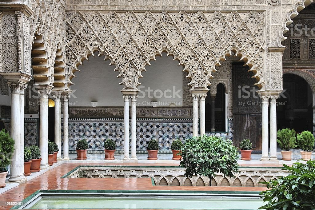 Alcazar of Seville stock photo