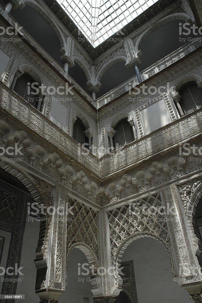 Alcazar of Seville Spain royalty-free stock photo