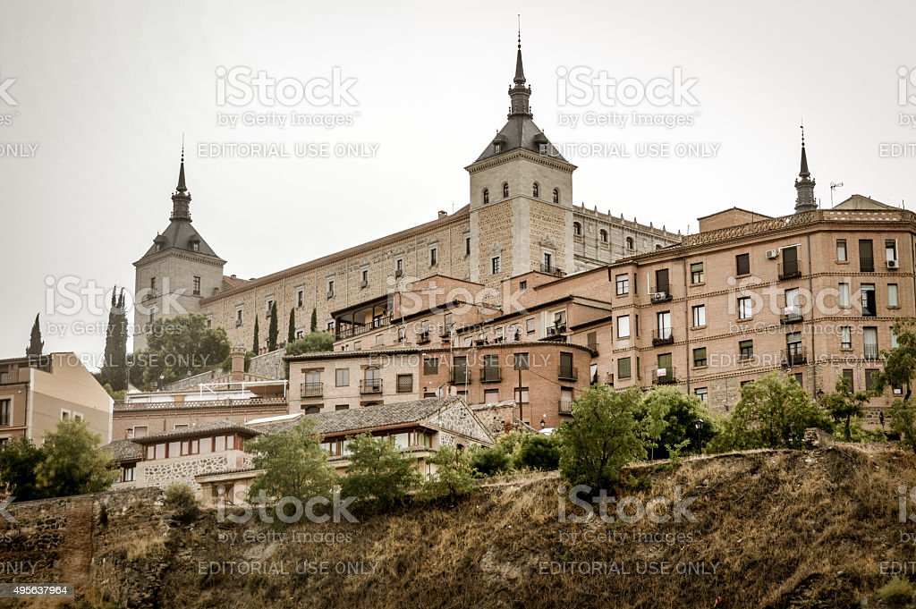 Alcazar of Toledo, Spain stock photo