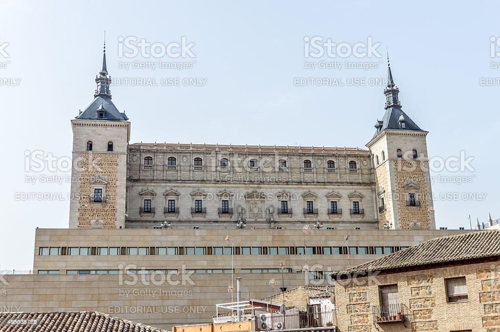 Alcazar of Toledo, Spain stock photo
