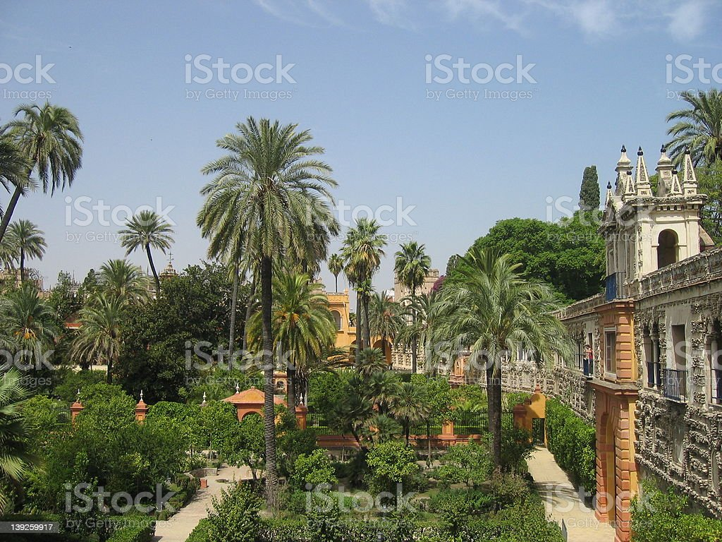 Alcázar Palace stock photo