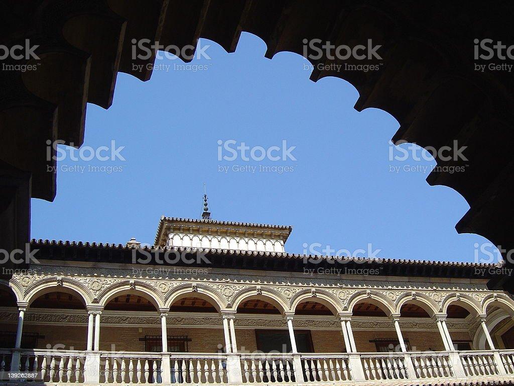 alcazar sevilla royalty-free stock photo