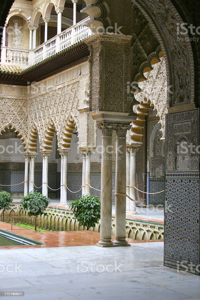 Alcazar - Seville stock photo