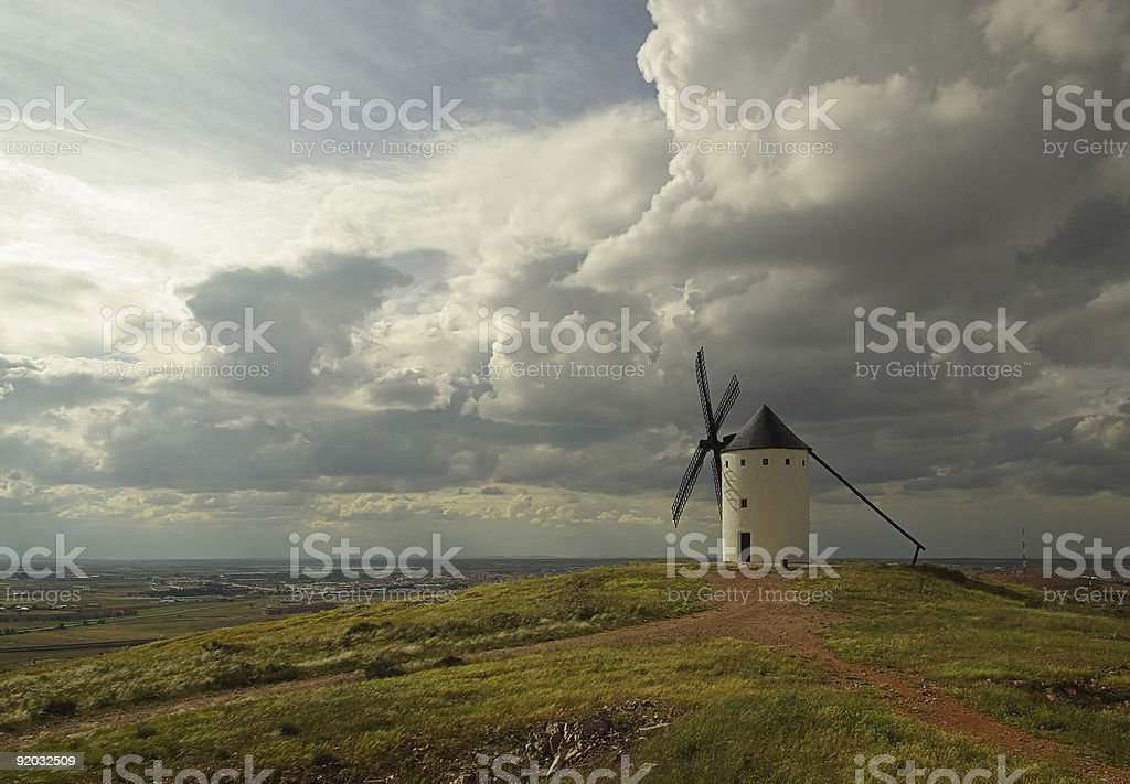 Alcazar windmill stock photo