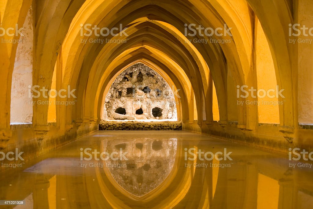 Alcazares Baths  in Seville royalty-free stock photo