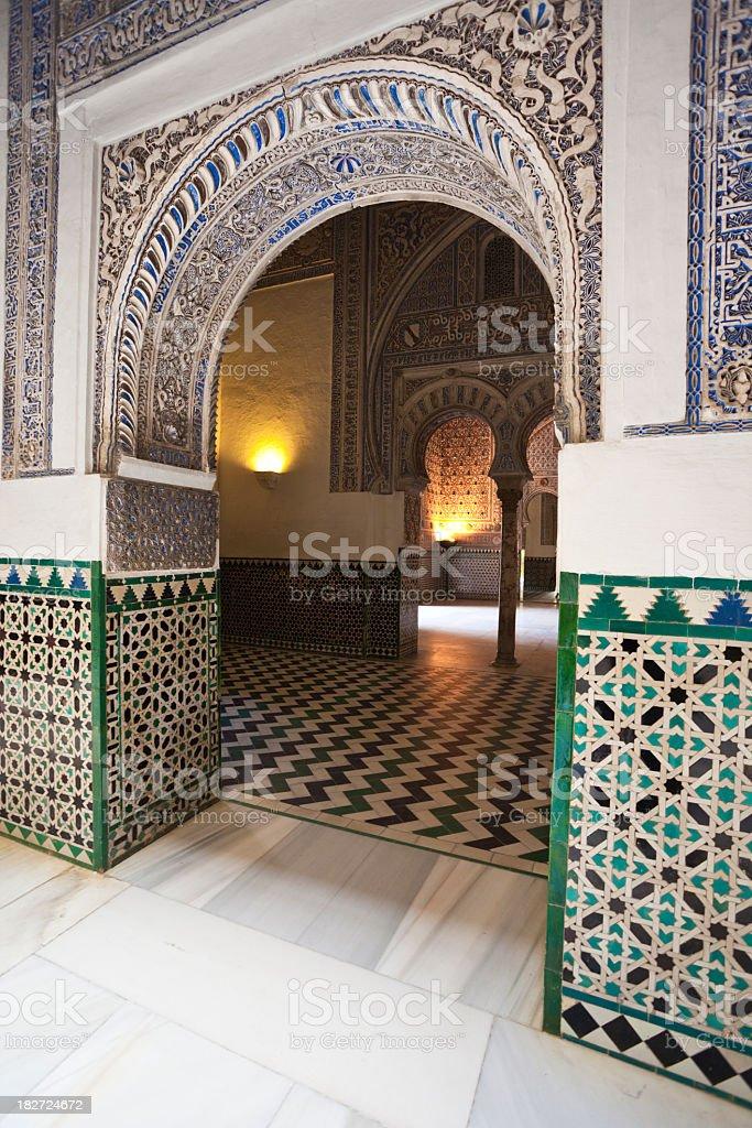 Alcazares Reales in Sevilla royalty-free stock photo