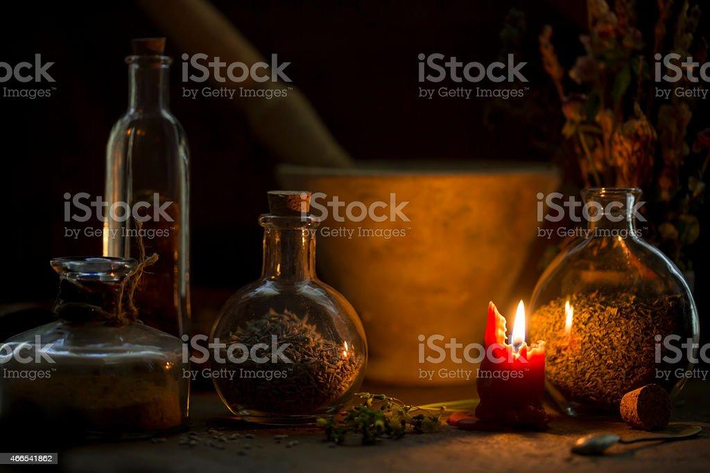 Alchemist Table stock photo