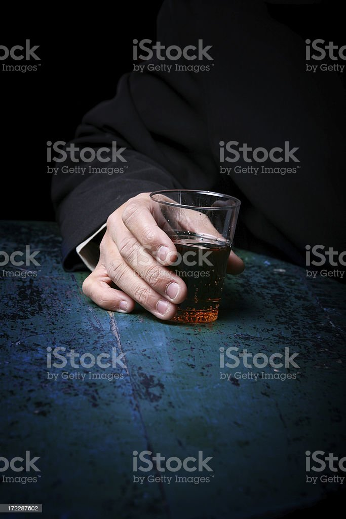 Alcholism royalty-free stock photo