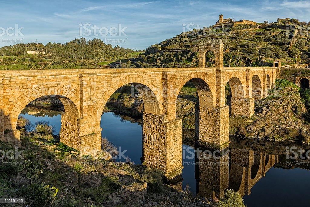 Alc?ntara Roman Bridge stock photo