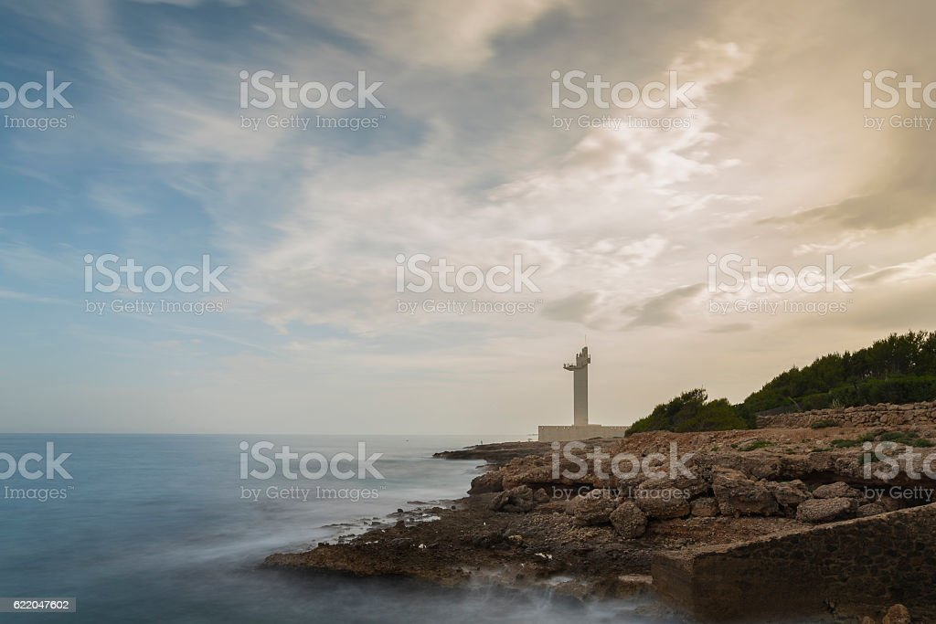 Alcocebre lighthouse. stock photo