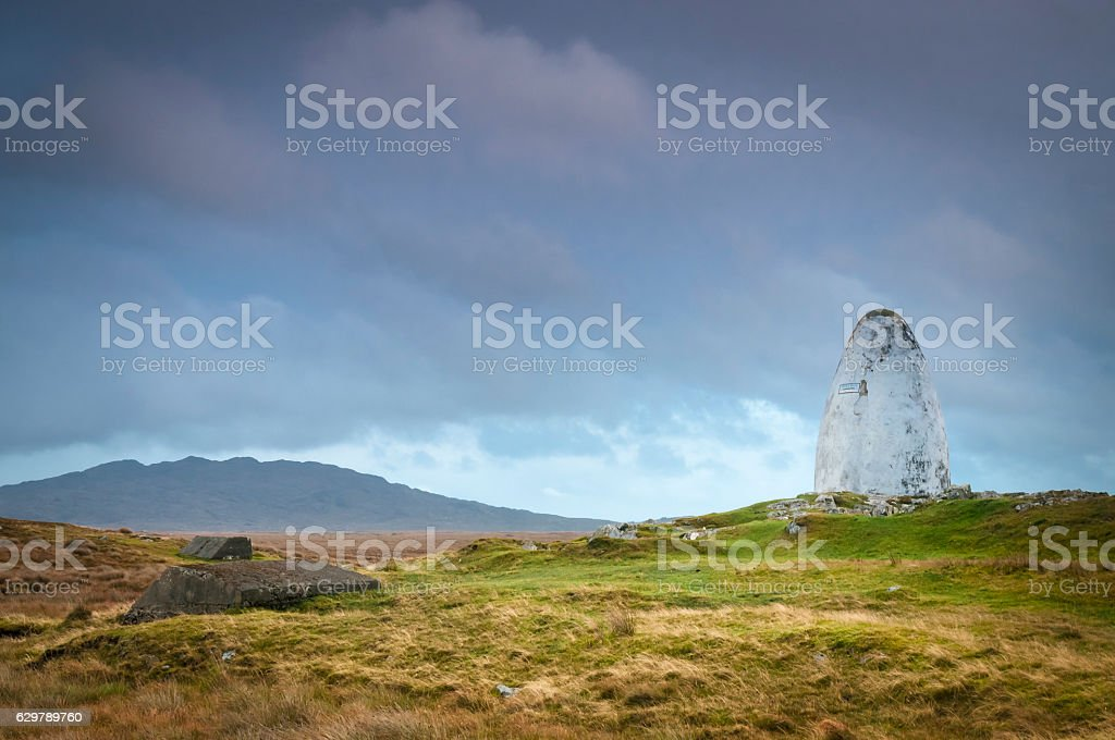 Alcock and Brown landing site stock photo