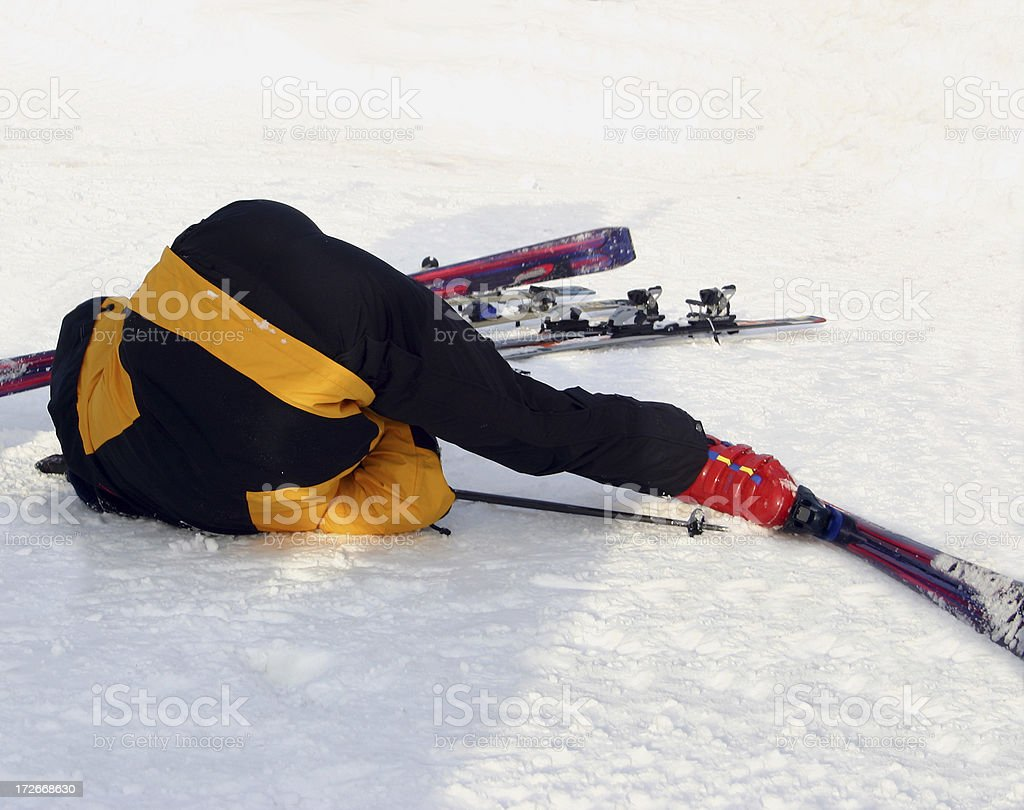 Alcohol abuse in the snow stock photo