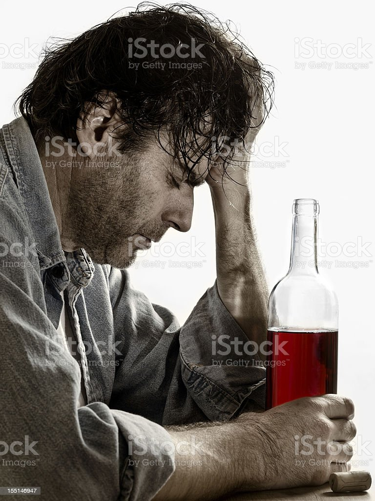 Alcohol abuse stock photo