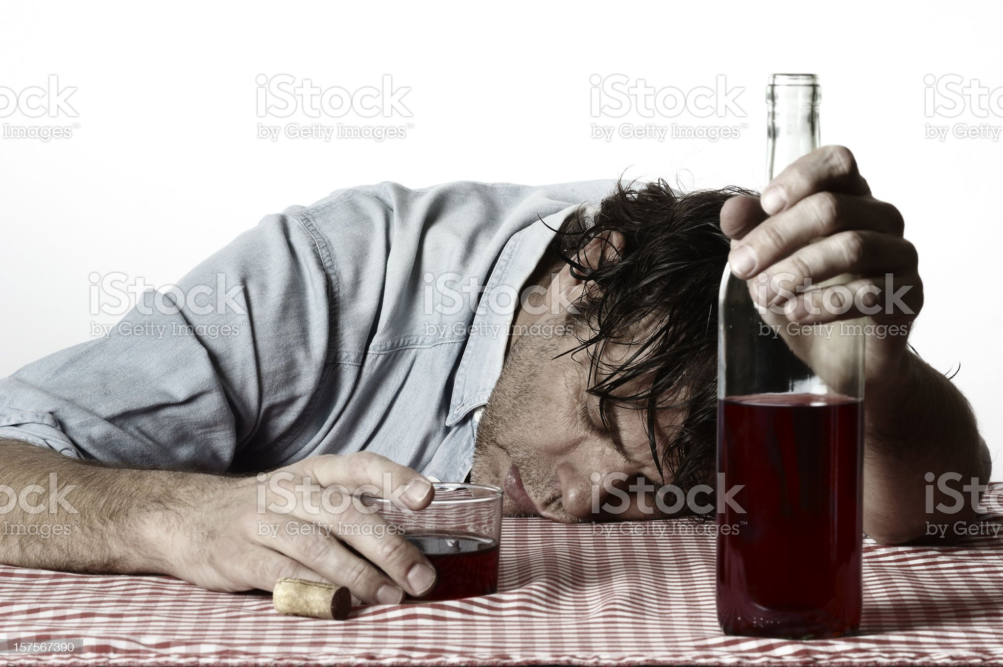 Alcohol abuse royalty-free stock photo
