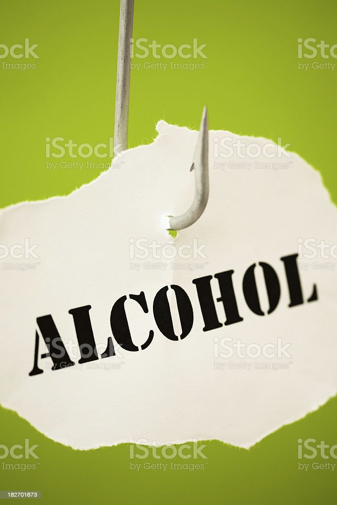 Alcohol addiction stock photo