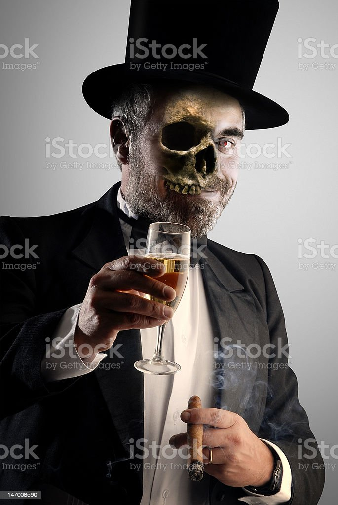 alcohol and cigars are deathly royalty-free stock photo
