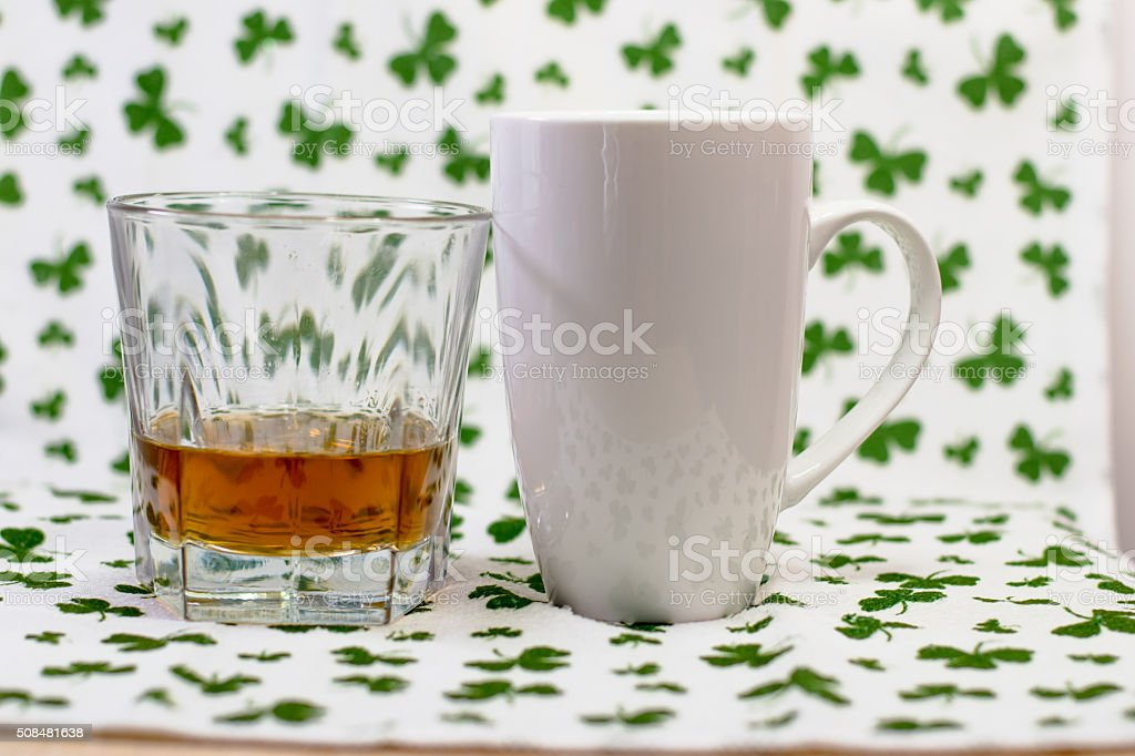 Alcohol and coffee stock photo