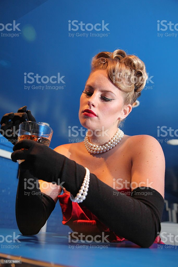 Alcohol and Lady royalty-free stock photo