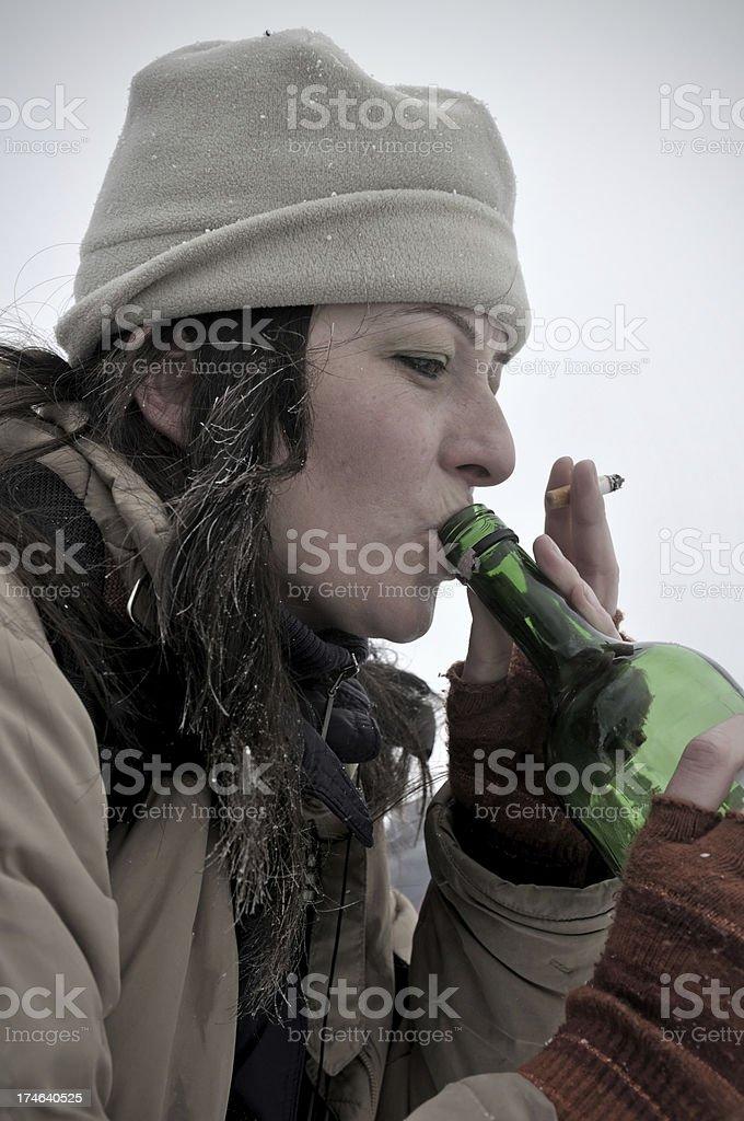 alcohol and smoke royalty-free stock photo